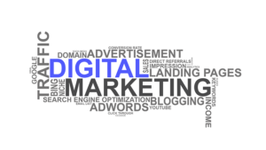 image representing showing different digital marketing strategies