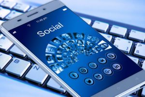 phone screen that shows social media platforms